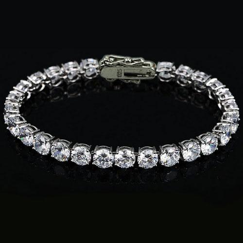3.5mm AAA CZ Bezel Tennis Bracelet