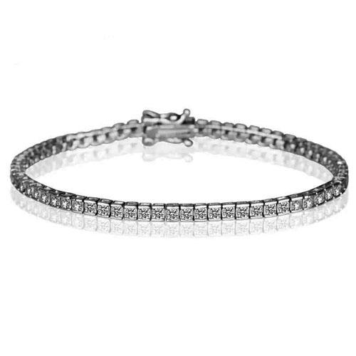 SQ2*2mm AAA CZ  Bezel Tennis Bracelet