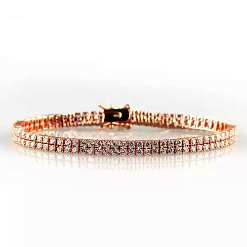 1.5mm AAA CZ Double Tennis Bracelet