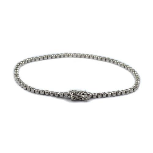 1.5mm AAA CZ Bezel Tennis Bracelet