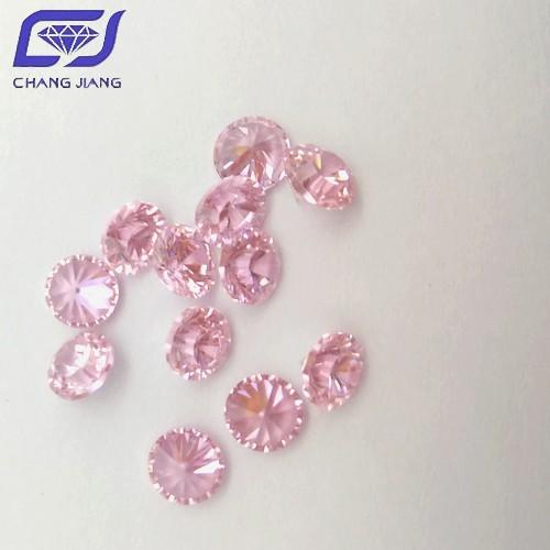 Top grade Pink Color CZ Round Shape