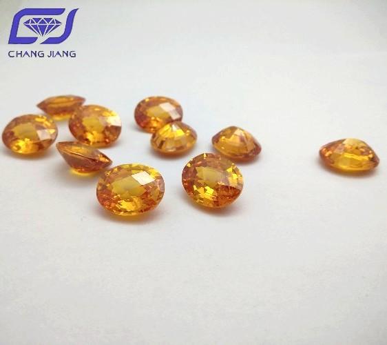 Golden color CZ oval shape